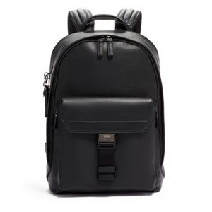 TUMI MORRISON BACKPACK BLACK LEATHER